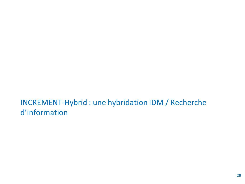 INCREMENT-Hybrid : une hybridation IDM / Recherche d'information