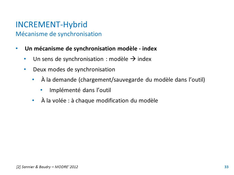 INCREMENT-Hybrid Mécanisme de synchronisation
