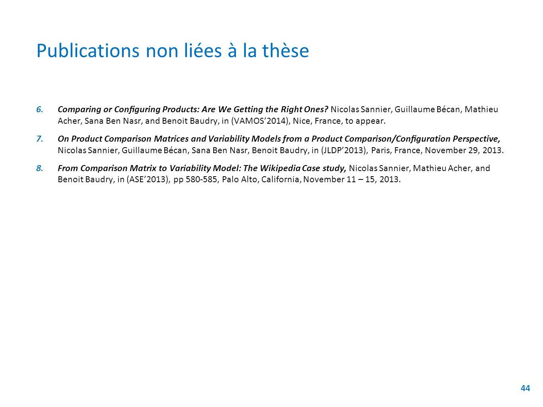 Publications non liées à la thèse