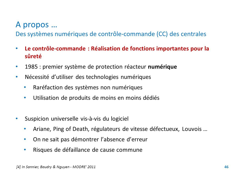 A propos … Des systèmes numériques de contrôle-commande (CC) des centrales