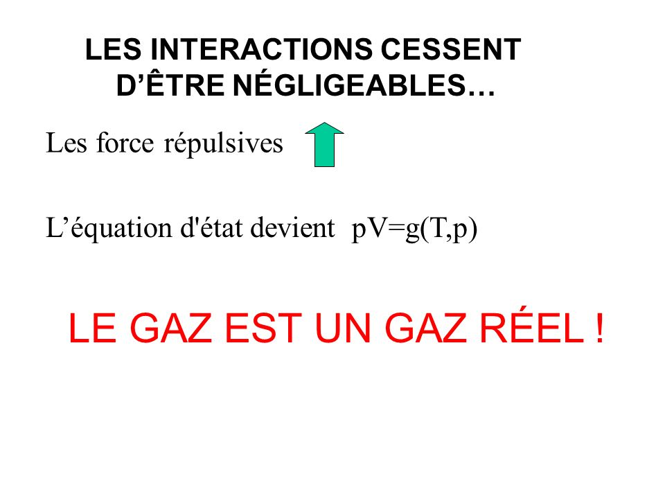 LES INTERACTIONS CESSENT