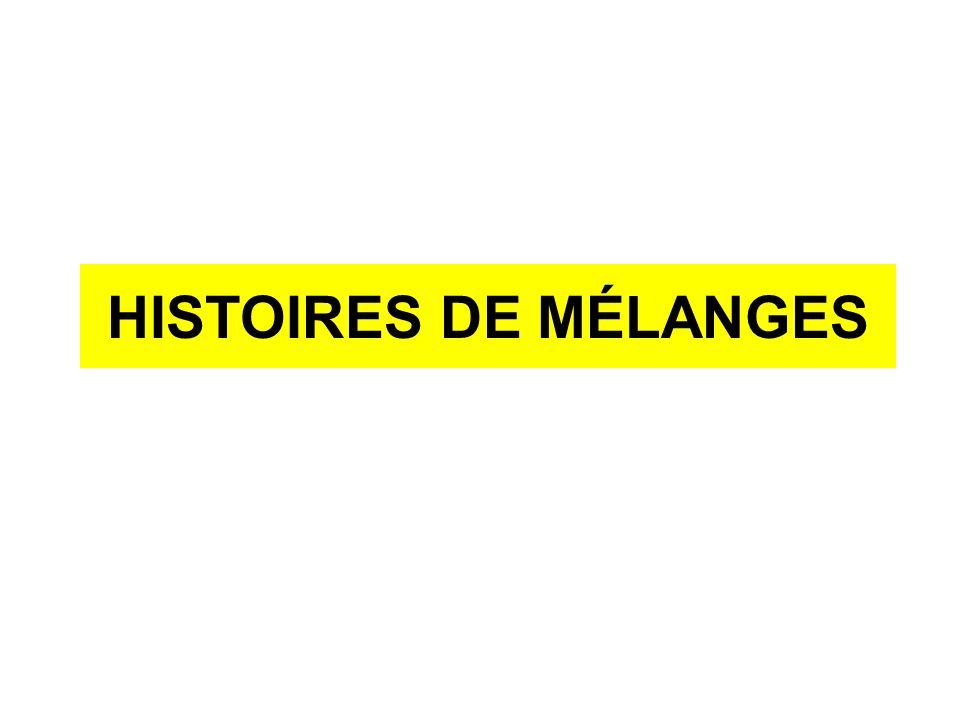 HISTOIRES DE MÉLANGES