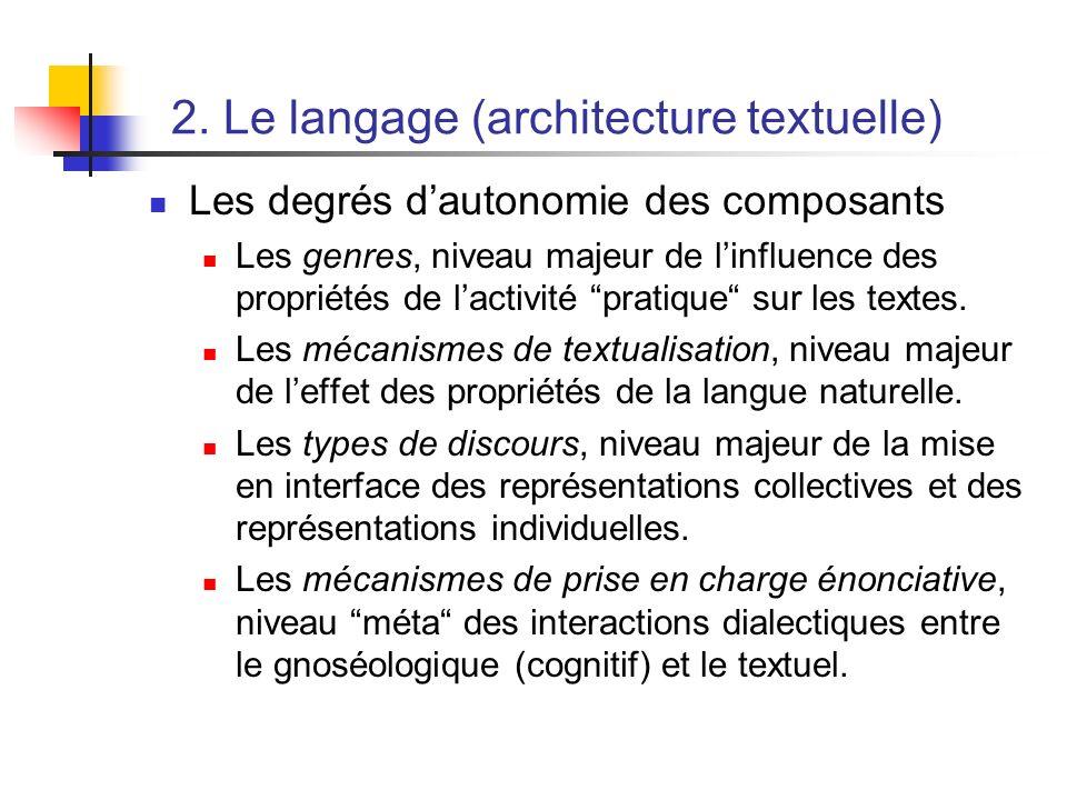 2. Le langage (architecture textuelle)