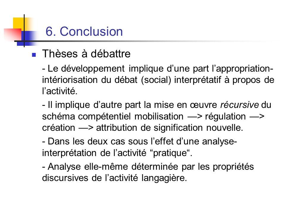 6. Conclusion Thèses à débattre