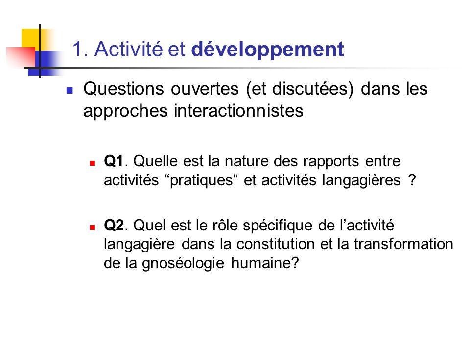 1. Activité et développement
