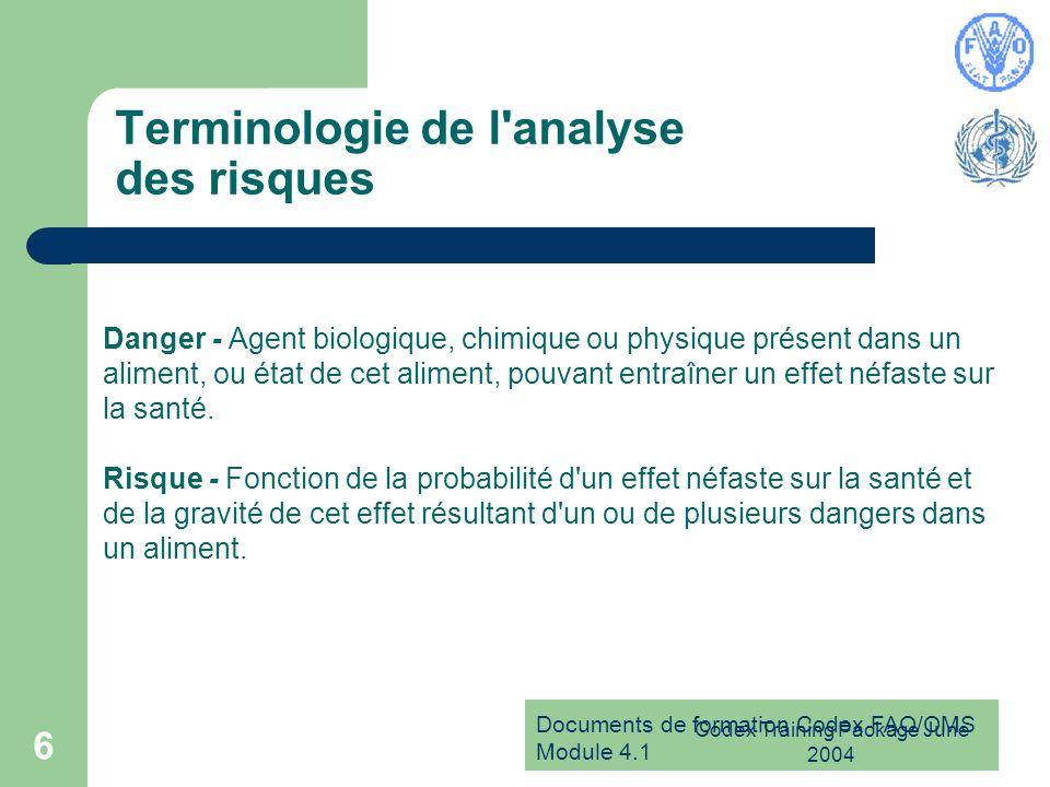 Terminologie de l analyse des risques