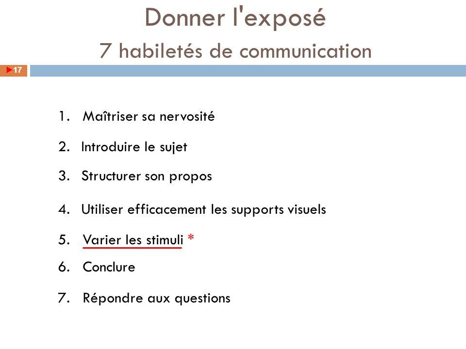 7 habiletés de communication