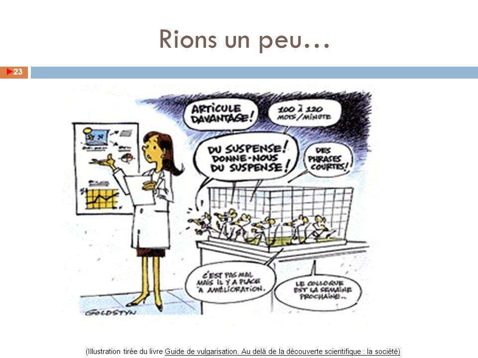 Rions un peu… (Illustration tirée du livre Guide de vulgarisation.