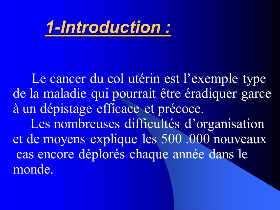 1-Introduction : de la maladie qui pourrait être éradiquer garce