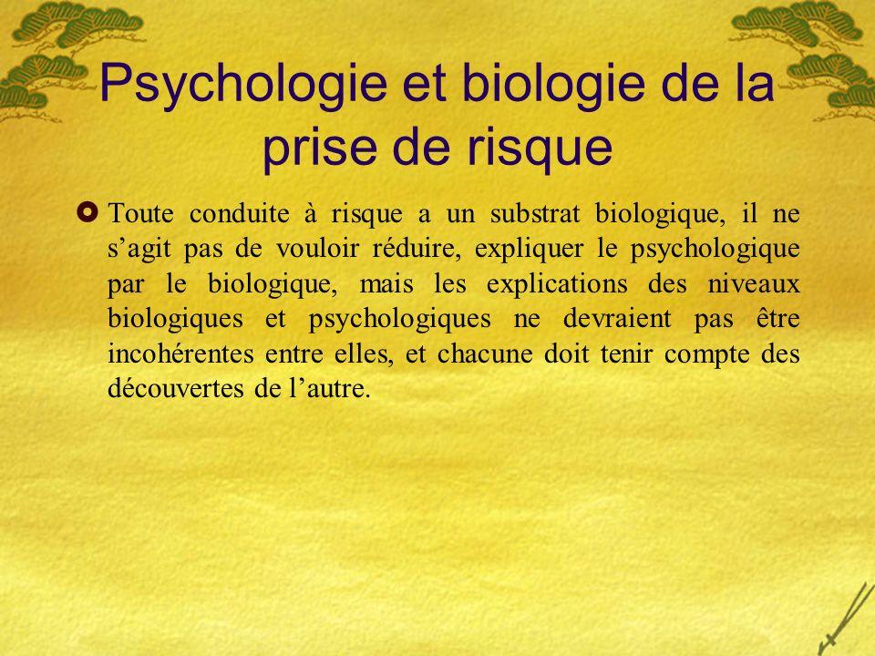 Psychologie et biologie de la prise de risque