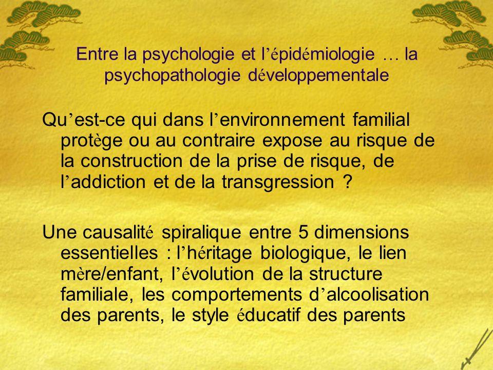 Entre la psychologie et l'épidémiologie … la psychopathologie développementale