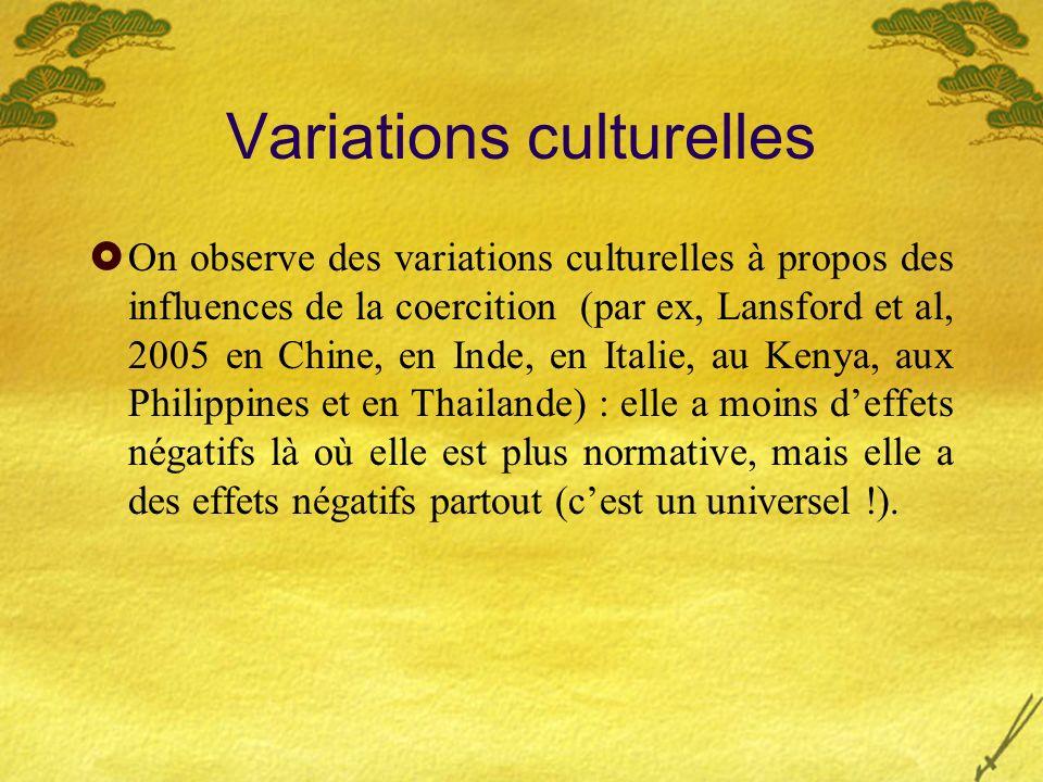 Variations culturelles