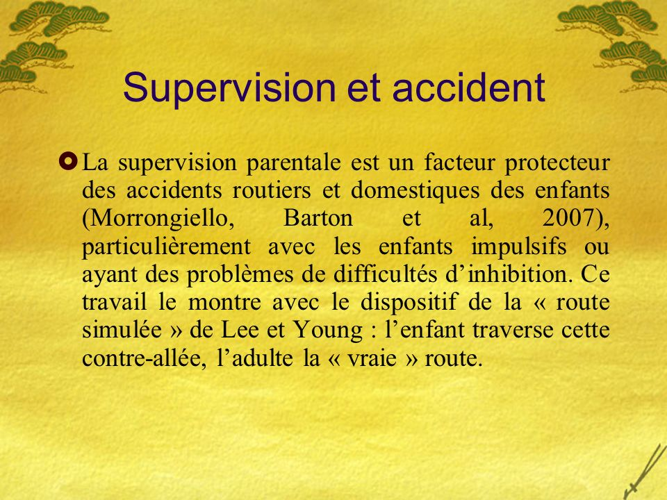Supervision et accident