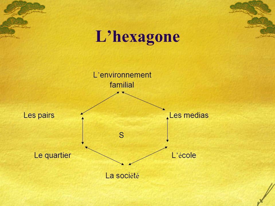 L'hexagone L'environnement familial Les pairs Les medias S