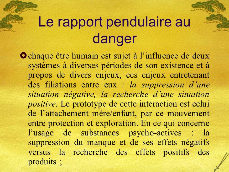 Le rapport pendulaire au danger