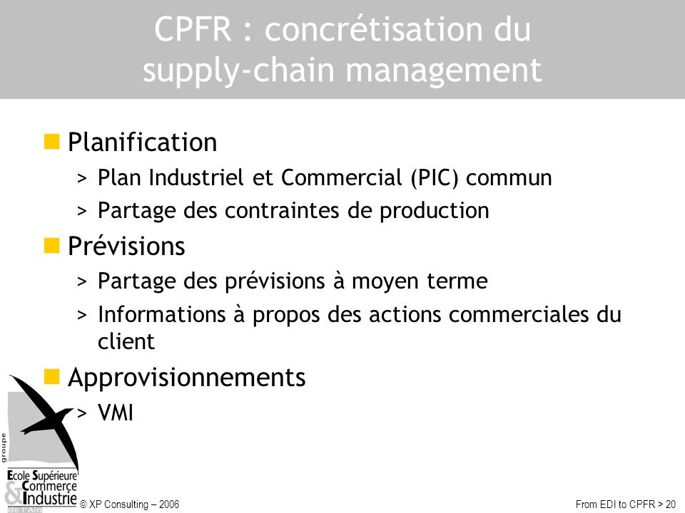 CPFR : concrétisation du supply-chain management