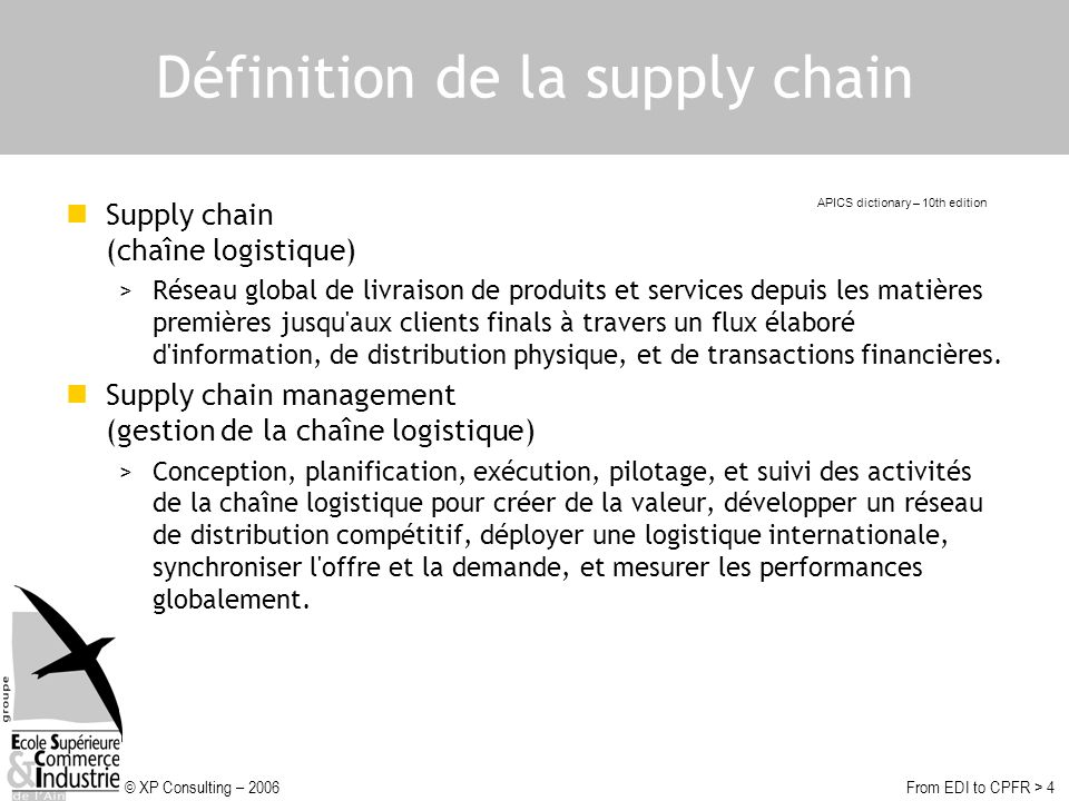 Définition de la supply chain