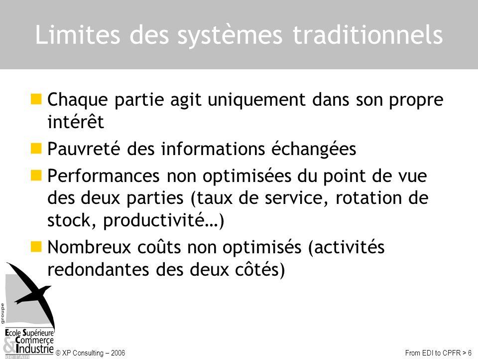 Limites des systèmes traditionnels