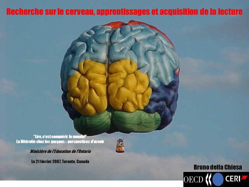 Recherche sur le cerveau, apprentissages et acquisition de la lecture