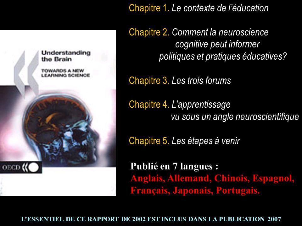 L'ESSENTIEL DE CE RAPPORT DE 2002 EST INCLUS DANS LA PUBLICATION 2007
