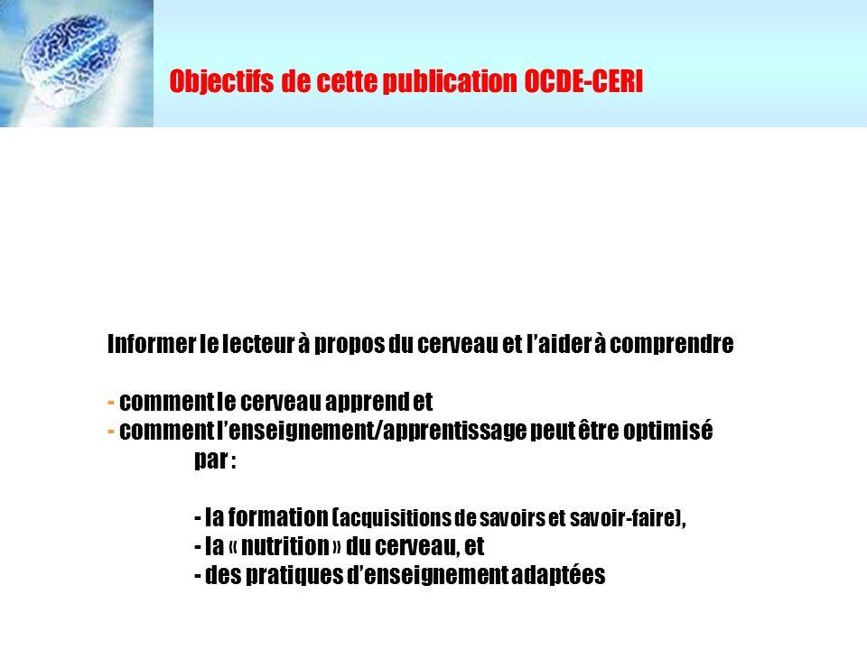 Objectifs de cette publication OCDE-CERI