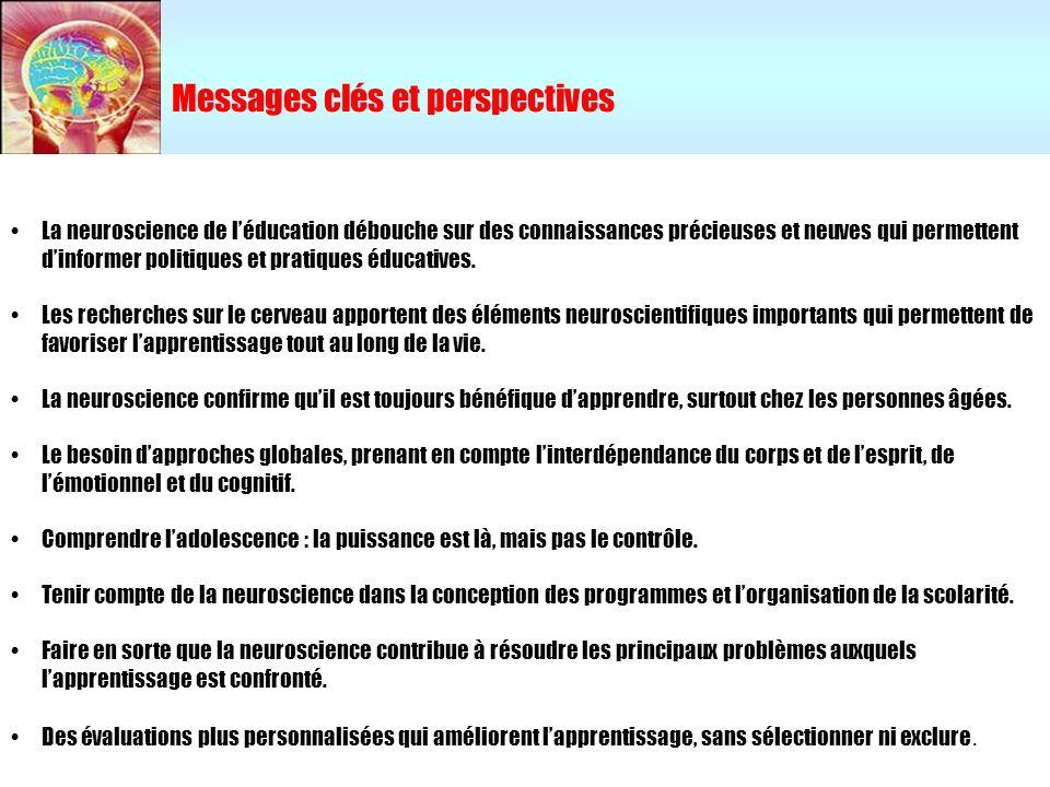 Messages clés et perspectives