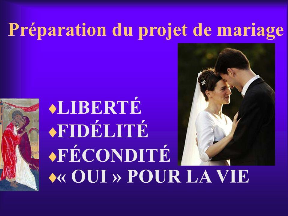 Préparation du projet de mariage