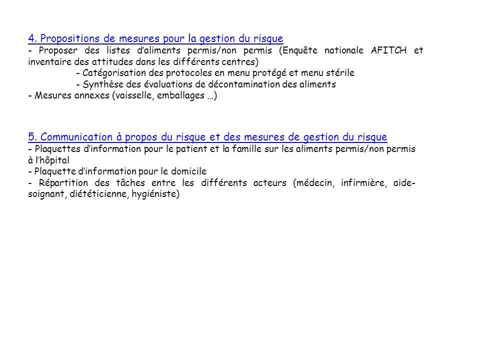 4. Propositions de mesures pour la gestion du risque