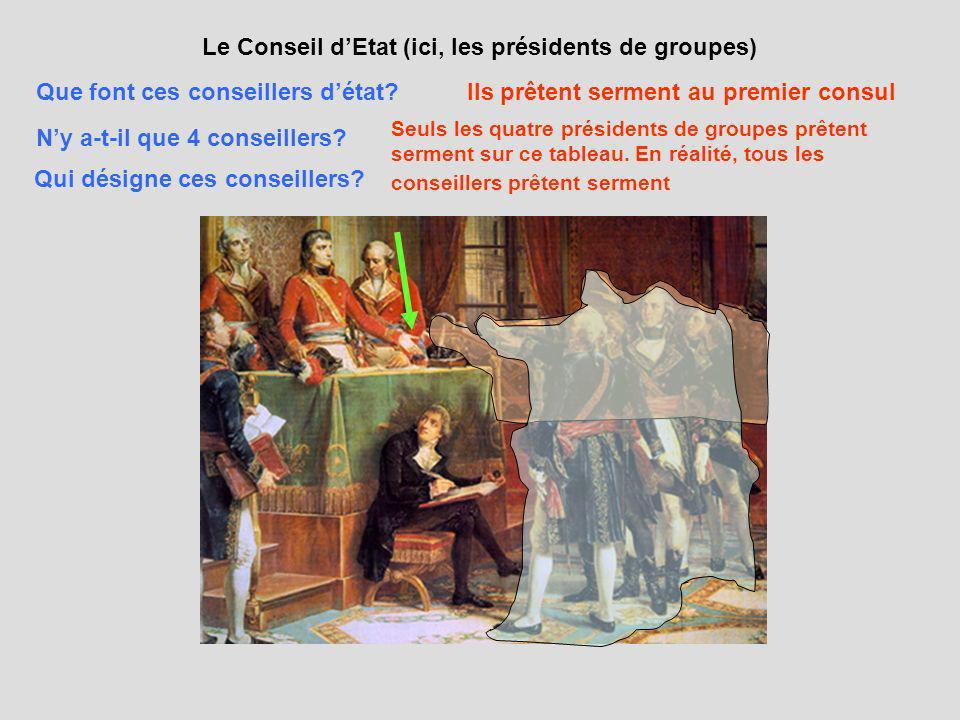 Le Conseil d'Etat (ici, les présidents de groupes)