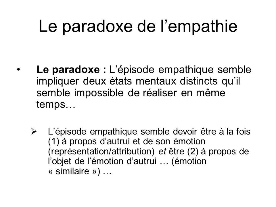 Le paradoxe de l'empathie