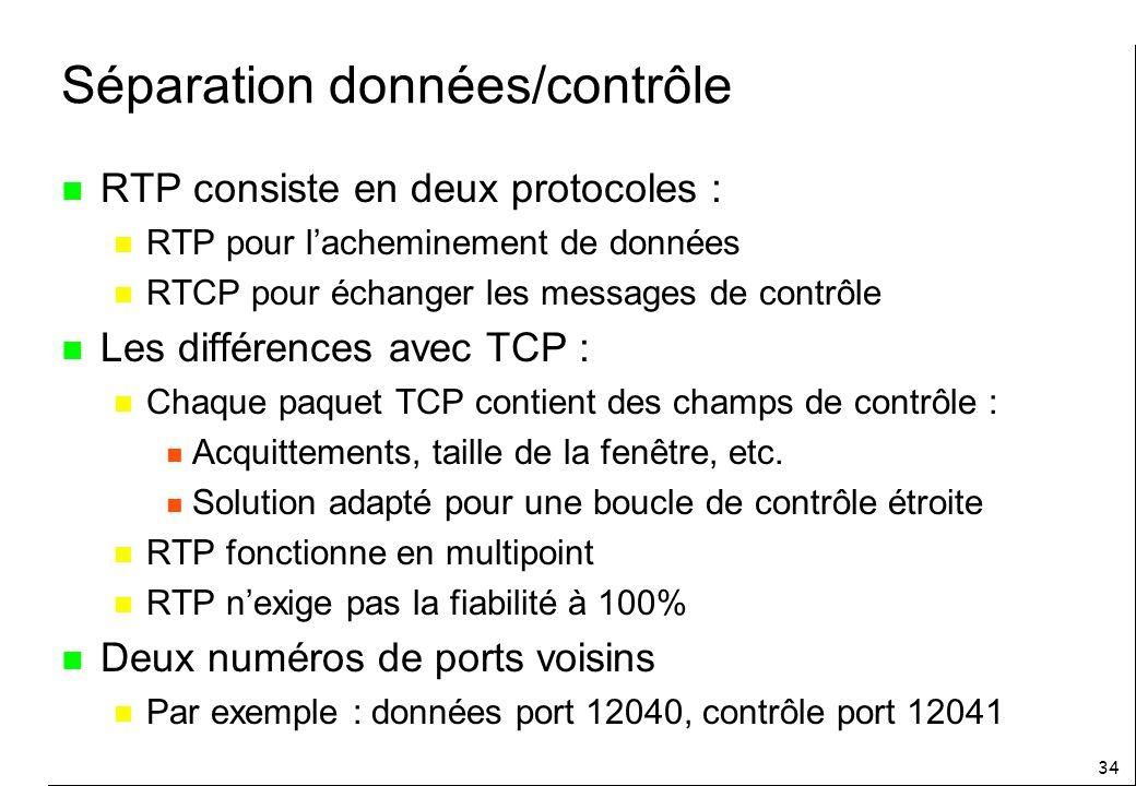Séparation données/contrôle