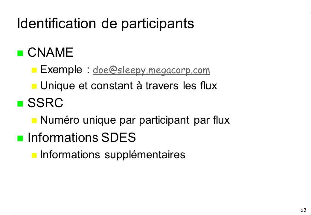 Identification de participants