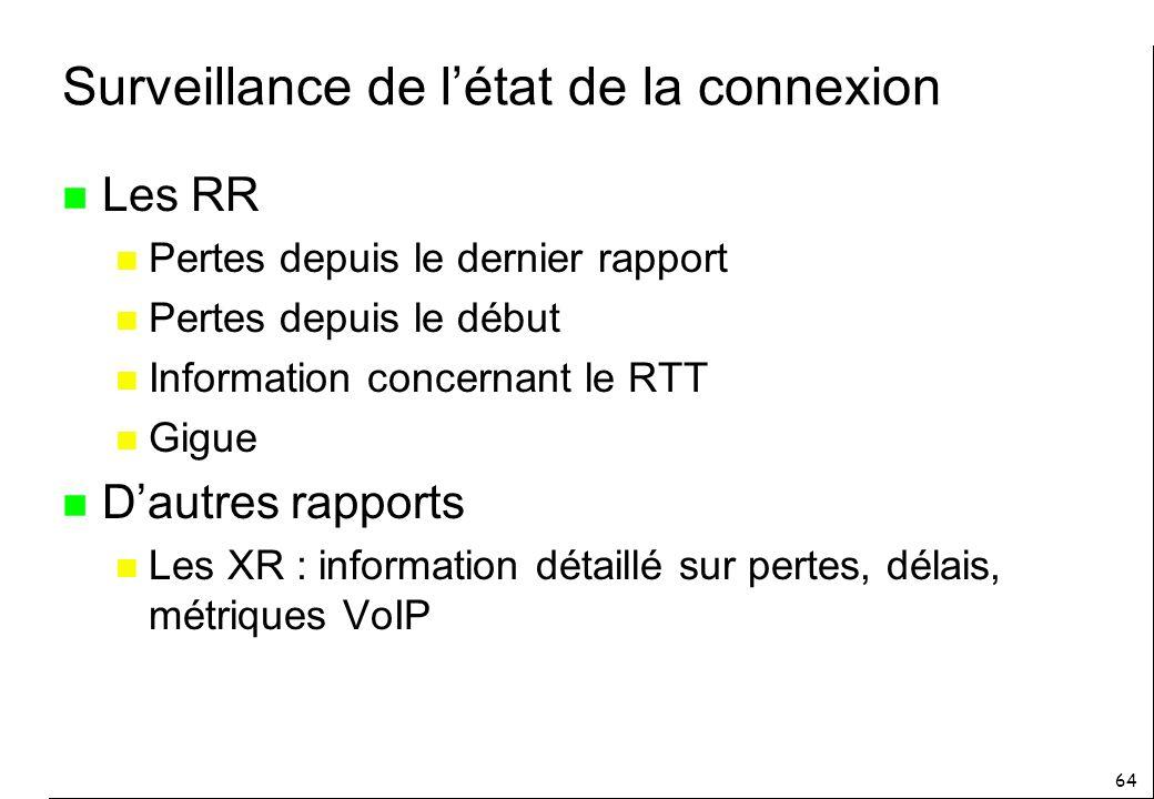 Surveillance de l'état de la connexion