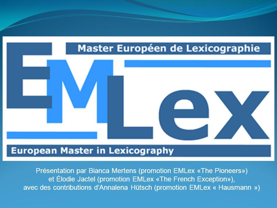 Présentation par Bianca Mertens (promotion EMLex «The Pioneers»)