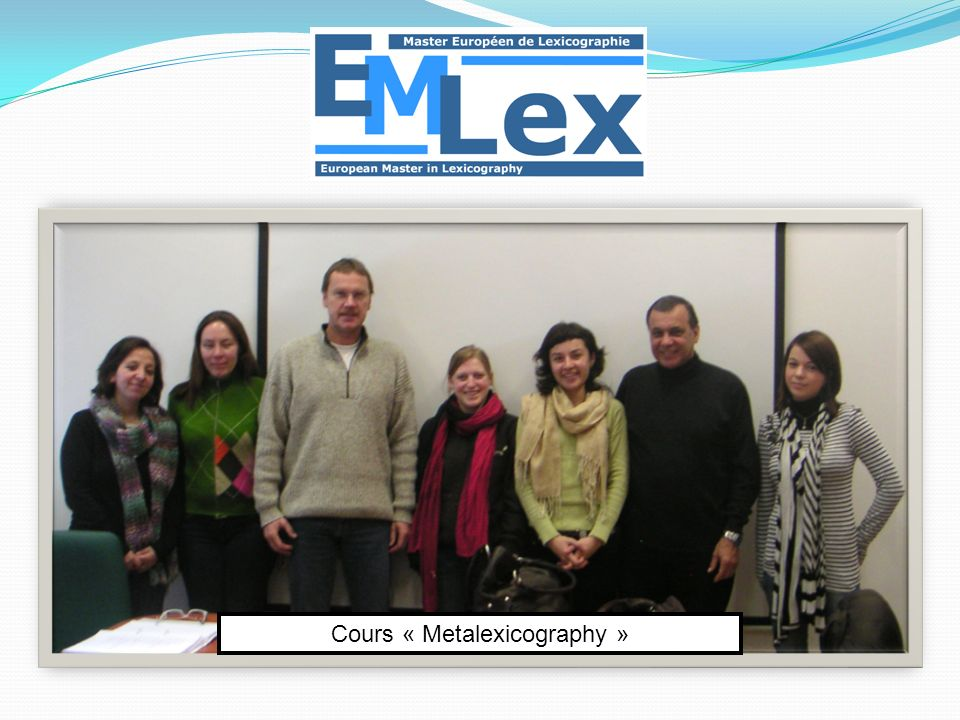 Cours « Metalexicography »