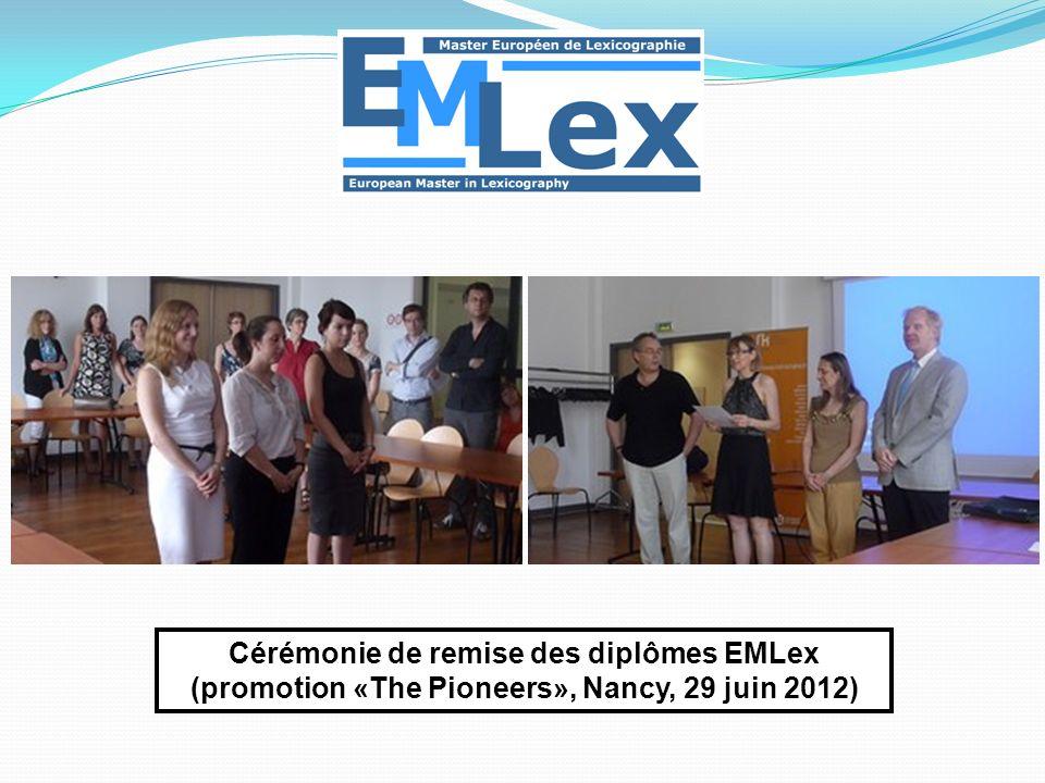 Cérémonie de remise des diplômes EMLex