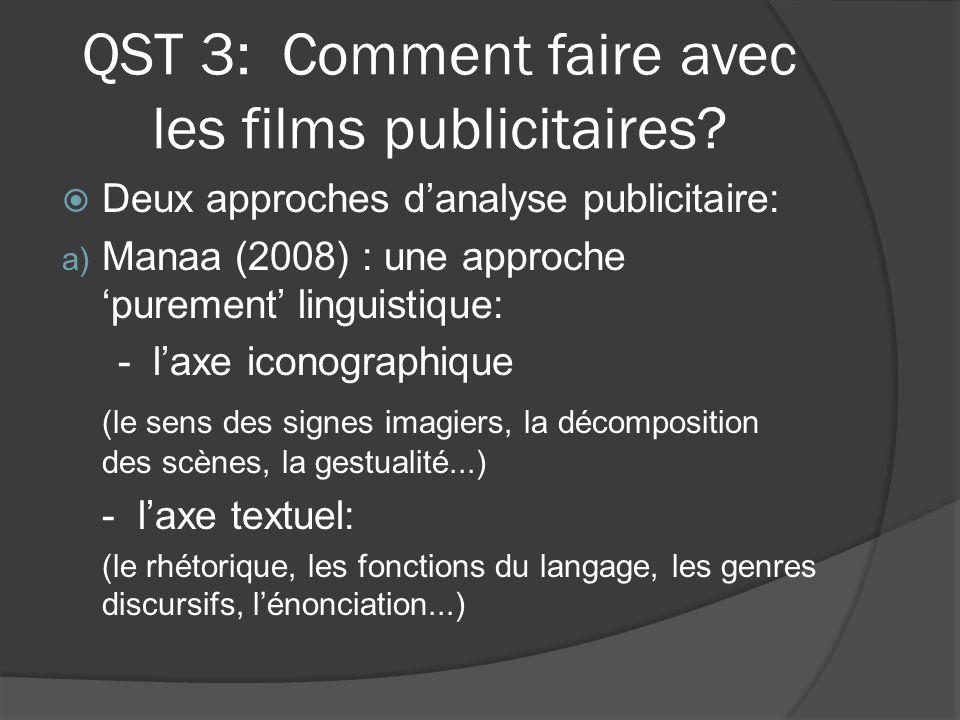 QST 3: Comment faire avec les films publicitaires