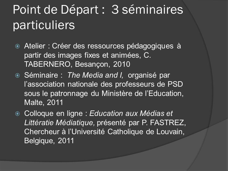 Point de Départ : 3 séminaires particuliers