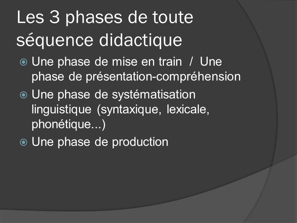 Les 3 phases de toute séquence didactique
