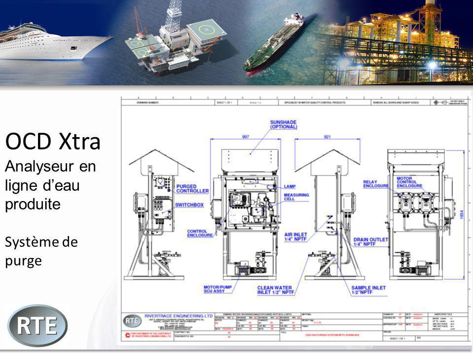 OCD Xtra Analyseur en ligne d'eau produite Système de purge
