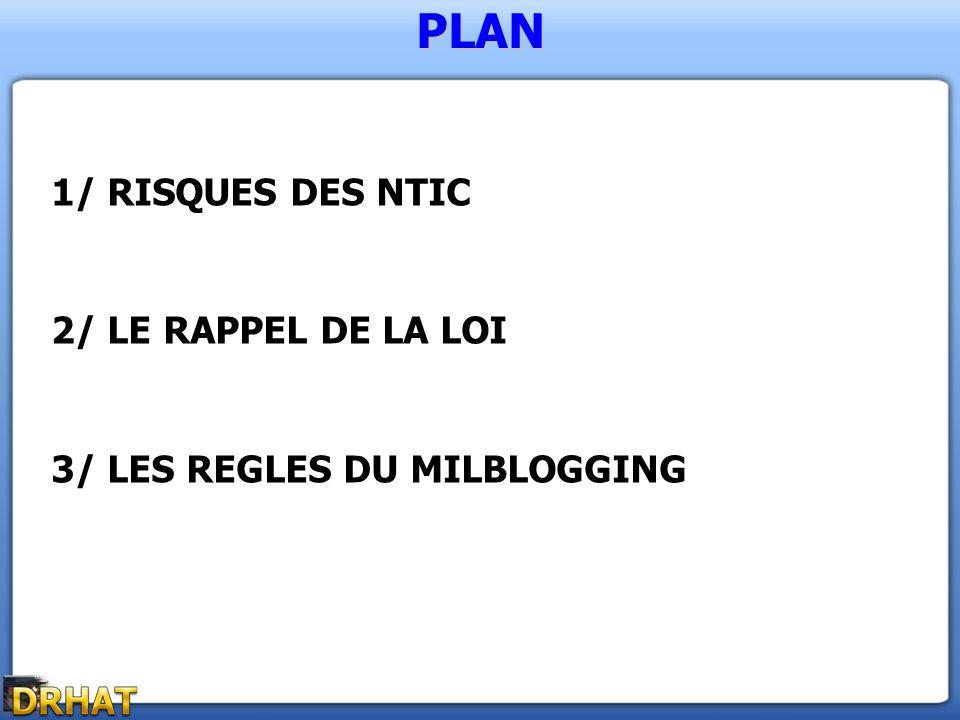 PLAN 1/ RISQUES DES NTIC 2/ LE RAPPEL DE LA LOI