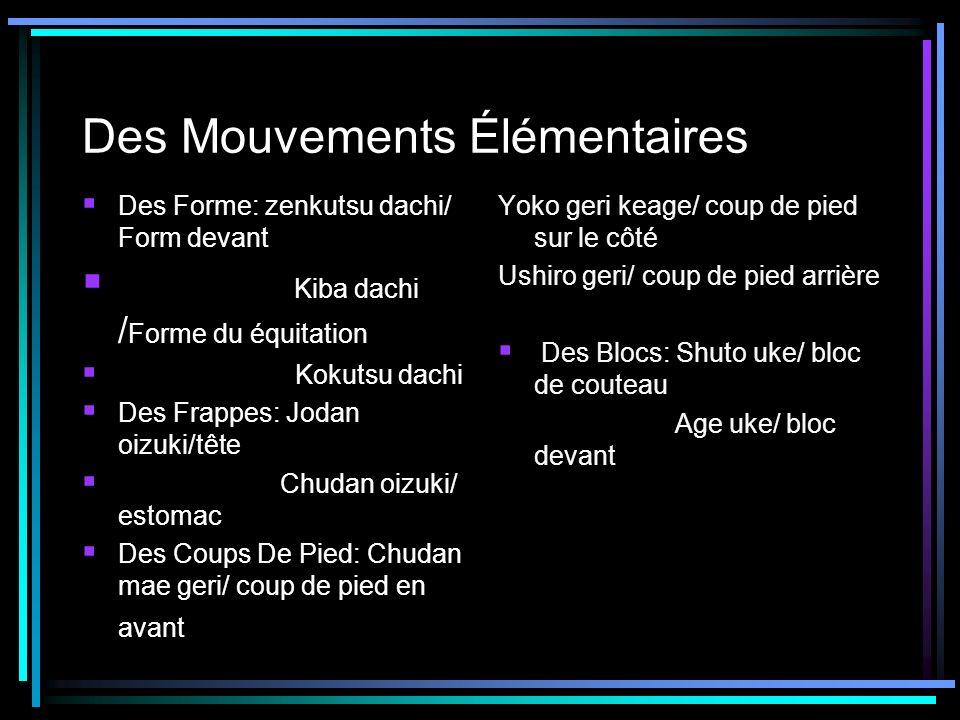 Des Mouvements Élémentaires