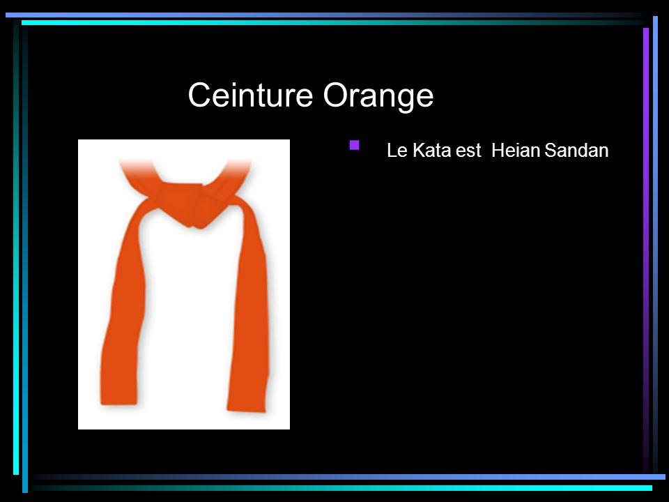 Ceinture Orange Le Kata est Heian Sandan
