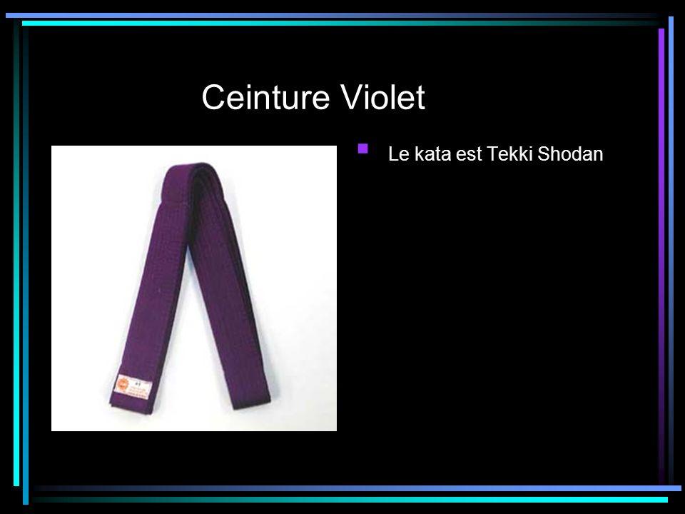 Ceinture Violet Le kata est Tekki Shodan