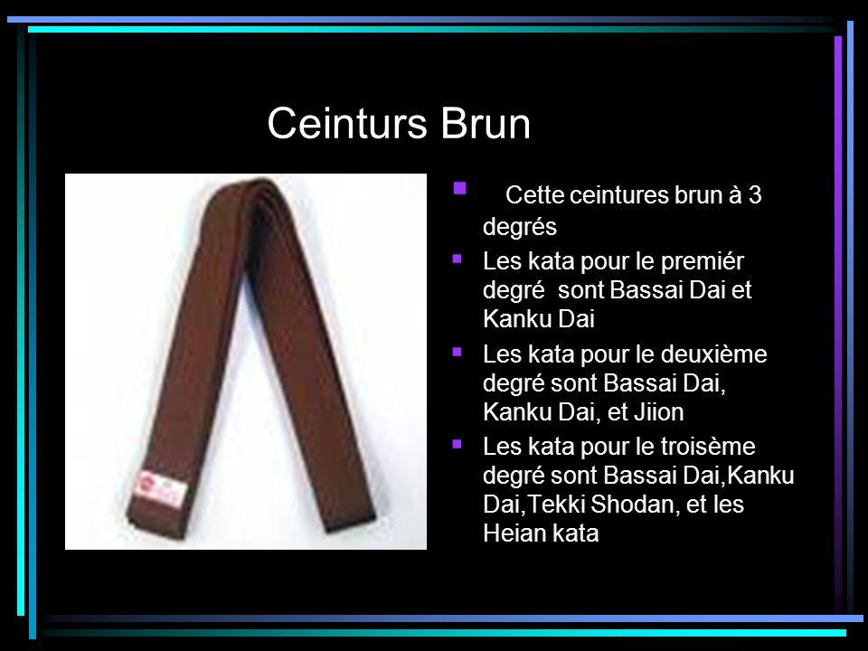 Ceinturs Brun Cette ceintures brun à 3 degrés