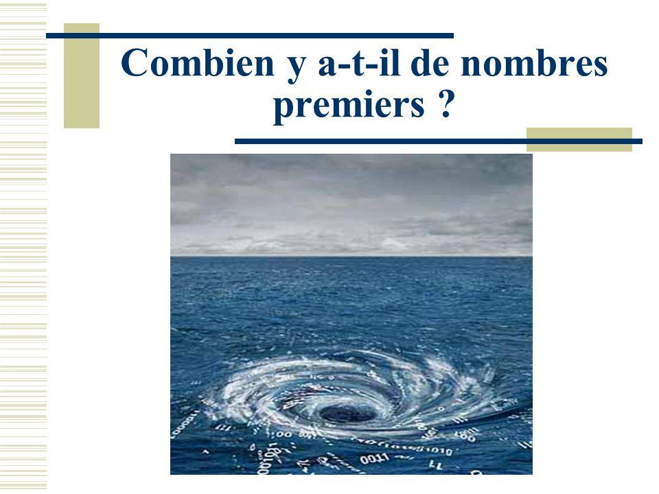 Combien y a-t-il de nombres premiers