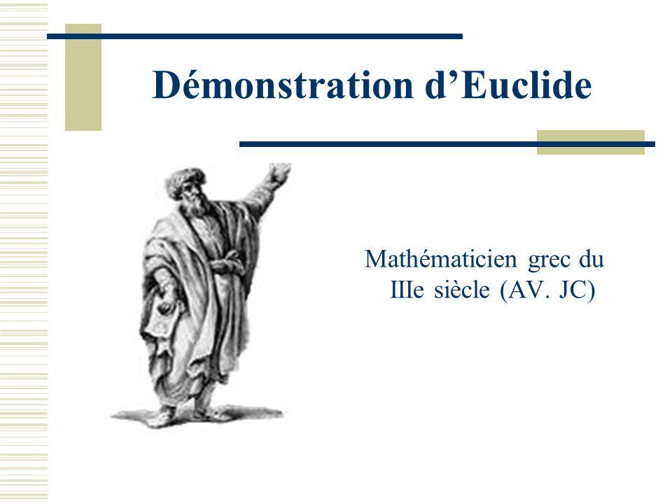 Démonstration d'Euclide