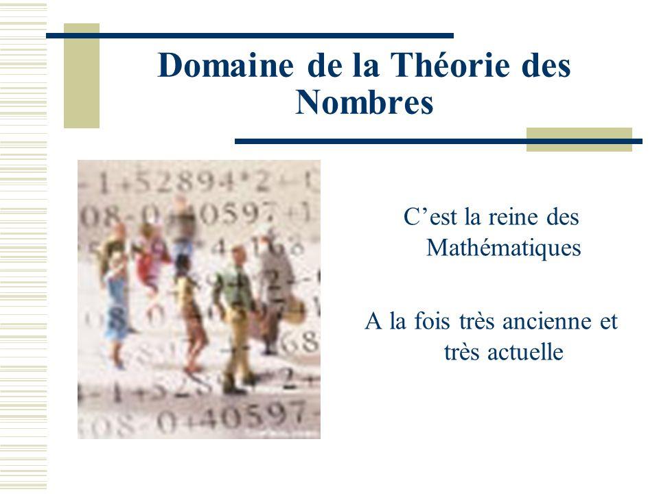 Domaine de la Théorie des Nombres