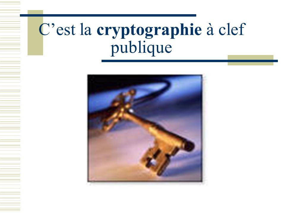 C'est la cryptographie à clef publique