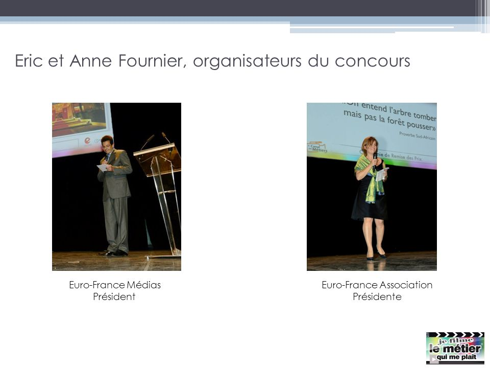 Eric et Anne Fournier, organisateurs du concours